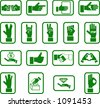 Various hand icons. - stock vector