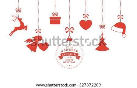christmas ornaments border