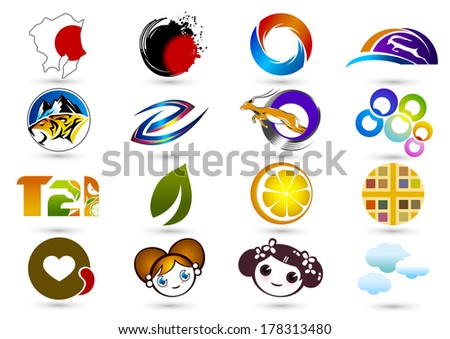 Various icons design elements
