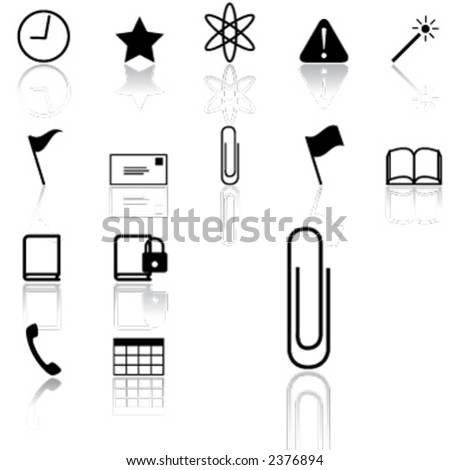 various icons (light version) - stock vector