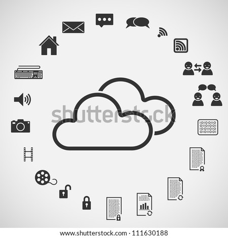 Various Internet Icons - stock vector