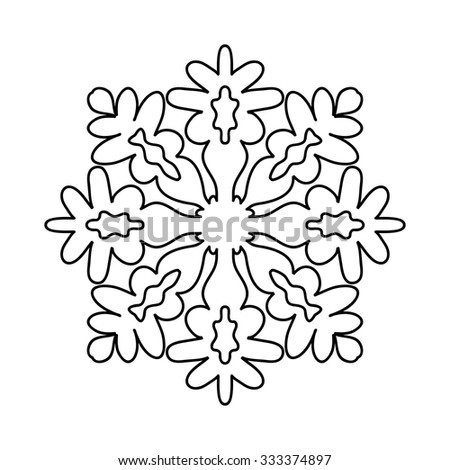 Various isolated winter snowflake. Vector illustration