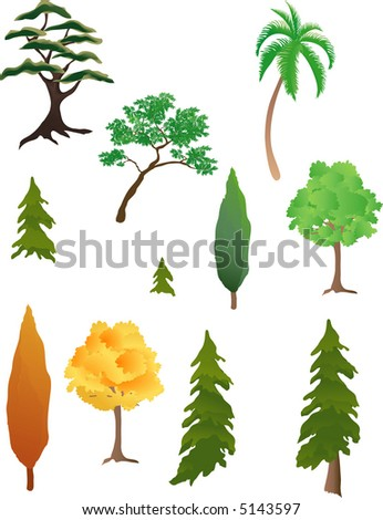 Various kinds of trees