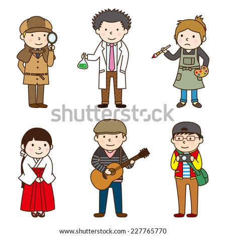 Various occupations / set 8 - stock vector