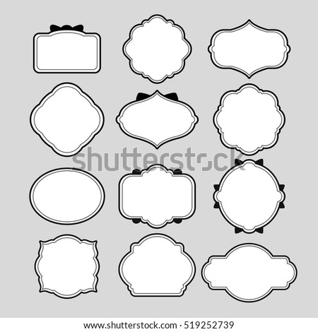 Various Frame Shapes Decoration Stock Vector 519252739 - Shutterstock