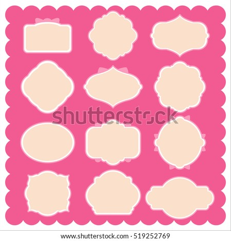 Various Frame Shapes Decoration Stock Vector (2018) 519252769 ...
