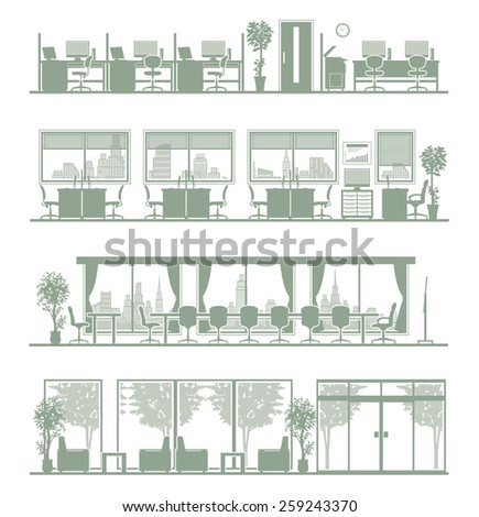 Various offices - stock vector