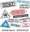 Various security rubber stamps (top secret, confidential etc.) - stock vector