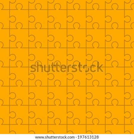 Various sizes puzzle. Illustration for design - stock vector