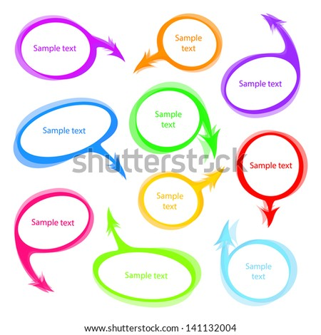 various speech bubbles vector set - stock vector