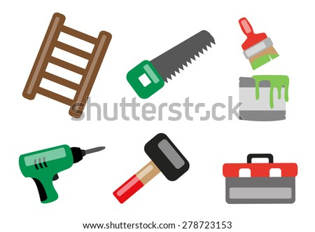 Various tools icon set