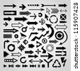 Various vector arrows. - stock vector