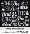 Various Vintage Thes & Ends Collection. For High Quality Graphic Projects. - stock vector