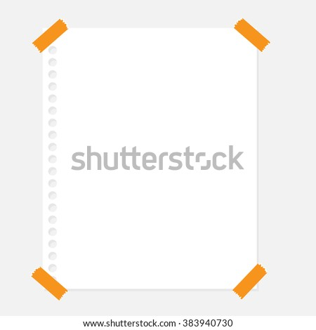 various white papers, ready for your message. Vector illustration. - stock vector