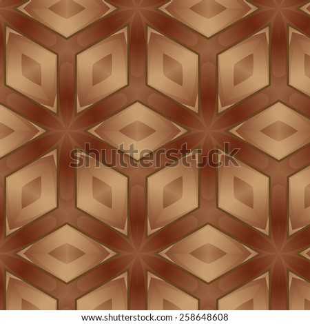 Various wooden tile flooring consists of mosaic background - stock vector