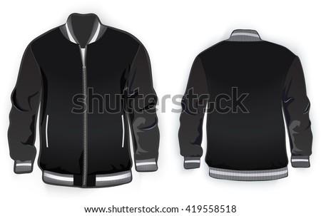 Varsity Jacket Template Vector Stock Vector 419558518 - Shutterstock