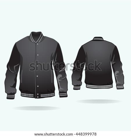 Varsity Jacket Template Vector Stock Vector 448399978 - Shutterstock