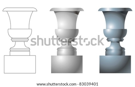 Vase for registration of houses - stock vector
