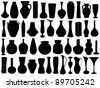 Vase set isolated - stock vector