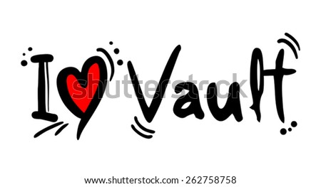 Vault love - stock vector