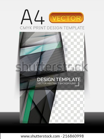 Vector A4 CMYK Modern Flyer Design - stock vector