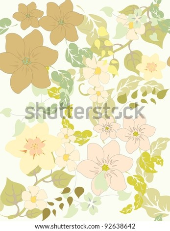 Vector a pattern seamless beautiful floral