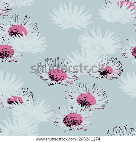 Vector a seamless sample dance of flowers for textiles - stock vector