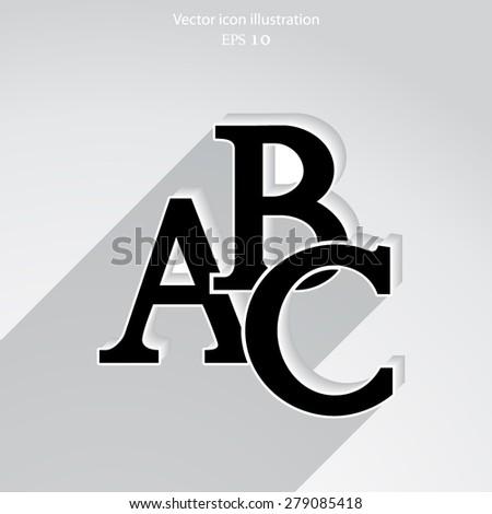 Vector abc icon illustration background. - stock vector