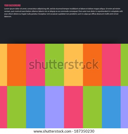 Vector abstract aquares and color. Design background