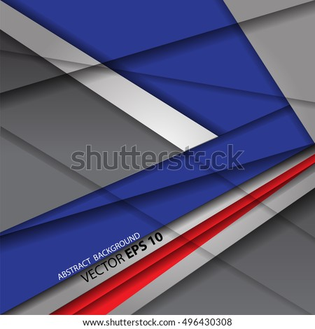 Vector abstract arrow blue red on gray background modern design future illustration.