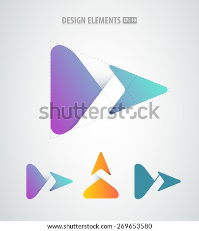 Vector abstract arrow logo. Corporate success icon. Business corporate identity logo elements - stock vector