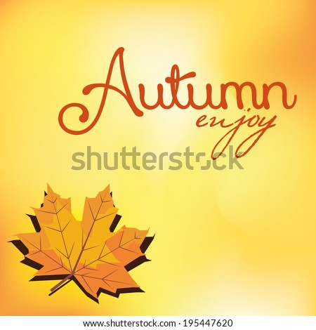 Vector Abstract Autumn Background Pattern Template