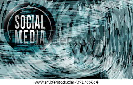 Vector abstract background and social media icon - stock vector