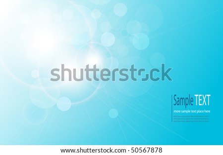 Vector abstract background blue magical lights, bokeh - stock vector