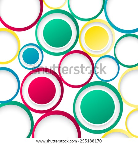 Vector abstract background. Circles and color texture