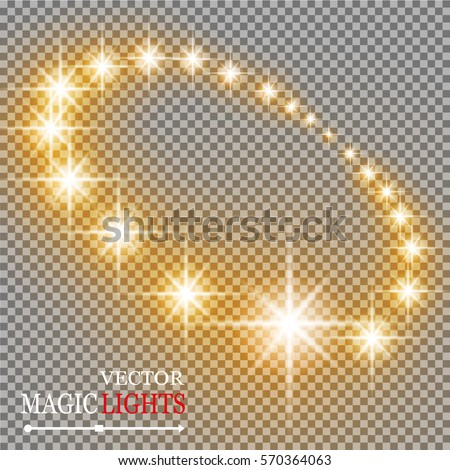 Vector abstract background. Colored stars in a circle with shadow. Eps 10. On a transparent background. Magic efekt.