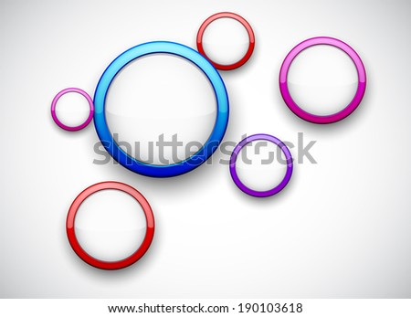 Vector abstract background contains of colorful glossy bubbles.