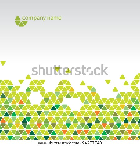 Vector abstract background - Cool green cell structure - stock vector