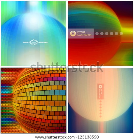 Vector abstract background. Design pattern for packaging. Colorful graphics abstract background. - stock vector