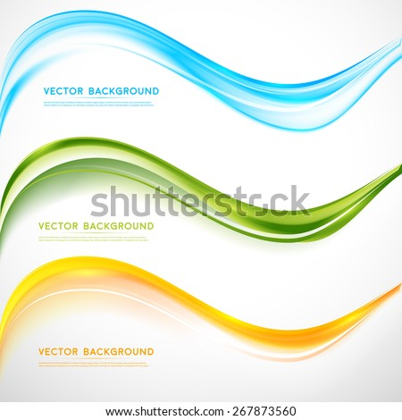 Vector abstract background design wavy.  Brochure design templates collection and waving - stock vector