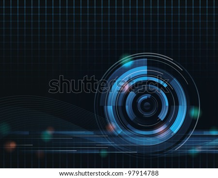 Vector Abstract Background Eight. It was created in Adobe Illustrator and was saved out as an .eps 10 file. This background uses transparencies and gradients in it to achieve some of its effects. - stock vector