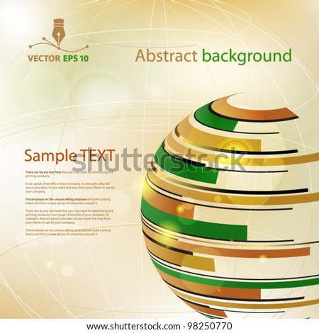 Vector abstract background for sample text - stock vector
