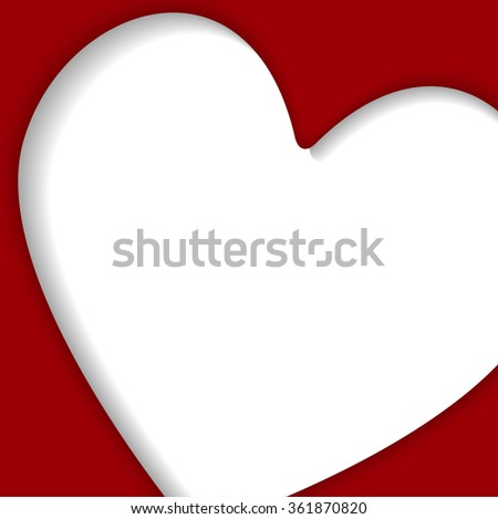 Vector abstract background.  I love you. White frame. Valentine's Day.