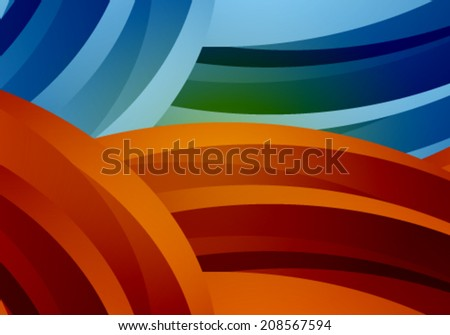 Vector abstract background illustration - stock vector