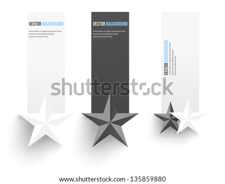 Vector abstract background. Infographics banner and numbered - stock vector