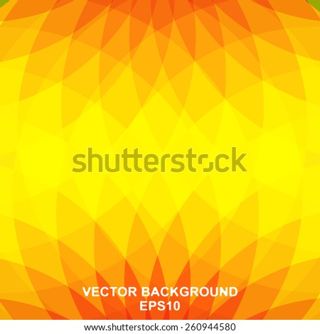 Vector abstract background is composed of petals from red to yellow - stock vector