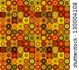 Vector Abstract background made of circles in warm colors. - stock photo