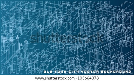 Vector abstract background of an old city