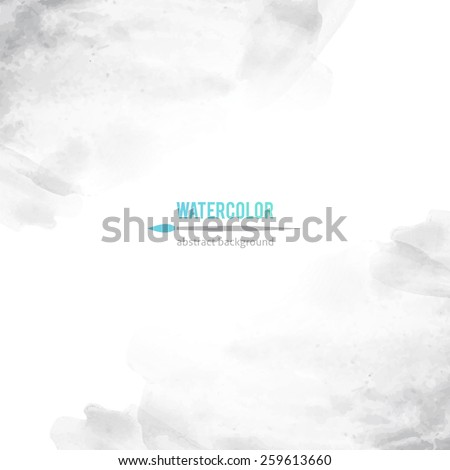 vector abstract background of gray watercolor stains - stock vector