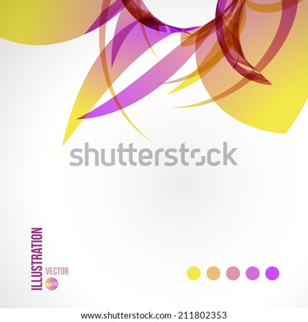 Vector abstract background of multicolored fragments. Illustration of triangles